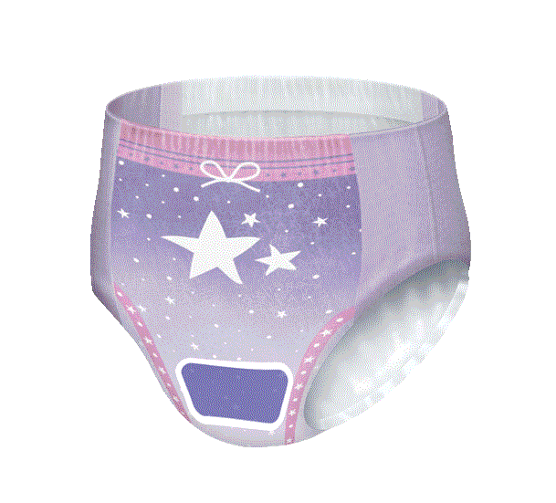 Girls GoodNites® Elena pattern Zoned Protection NightTime Underwear