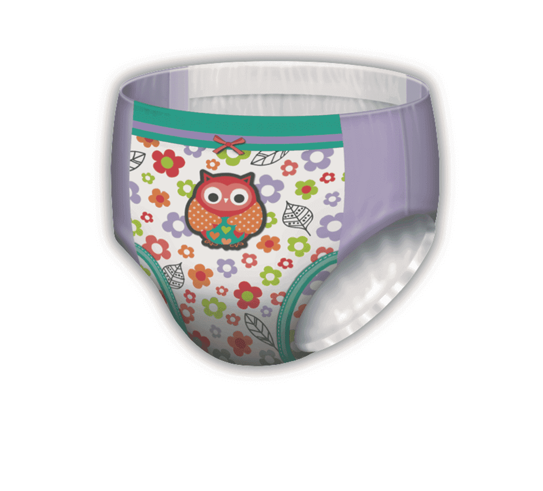 Girls GoodNites® Owl pattern NightTime Underwear for Girls
