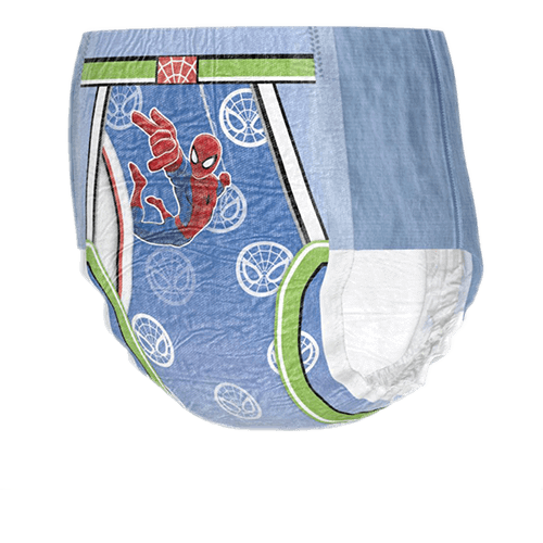 GoodNites® nighttime underwear for boys, featuring Spider-Man character designs.