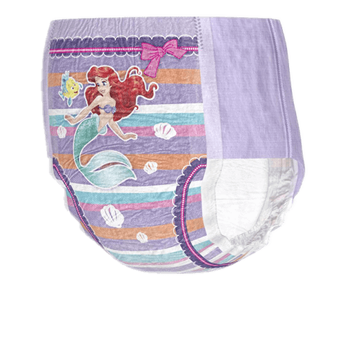 GoodNites® nighttime underwear for girls, featuring Ariel, the Little Mermaid.