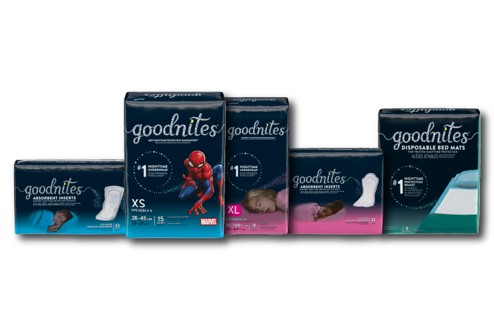 GoodNites® product family shot